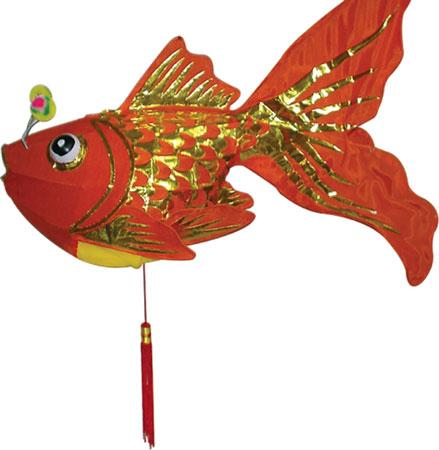 儿童手绘风筝图案鱼